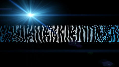 Futuristic video animation with moving wave object and lights, loop HD Videos animados