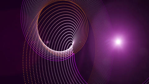 Futuristic video animation with particle stripe object and light in motion, loop HD Videos animados