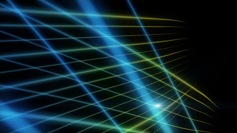 Futuristic eco video animation with moving wave object and lights, loop HD Animation
