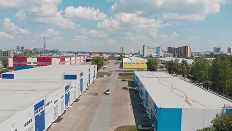 "July 27, 2020 RUSSIA, KAZAN - industrial warehouses zone - technopolis ""Himgrad ライブ動画"