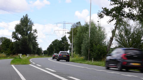 View On The Road Around Driemond City The Netherlands 20-7-2020 Live Action
