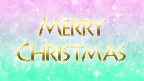 merry christmas message loop background CG動画