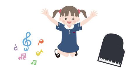 元気にジャンプする子どもたちのアニメーション CG動画