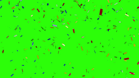 3d render of falling confetti on a green background. Mary Christmas and happy new year background Animation