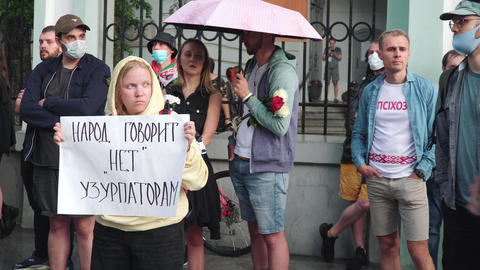 Rally at the Embassy of the Republic of Belarus Acción en vivo
