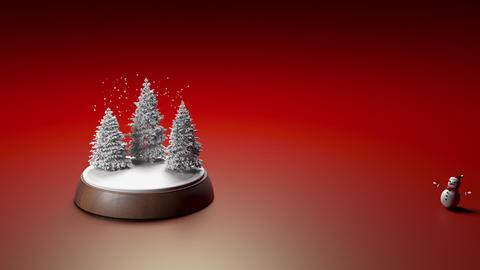 Mary Christmas and new year background animation. Christmas toy with a snowman 3d illustration GIF