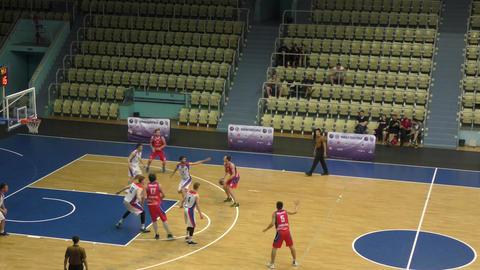 Orenburg, Russia - 13-16 June 2019 year: Men play basketball GIF