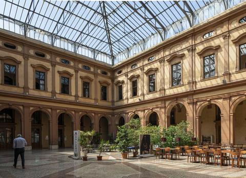 covered inner courtyard in Ferrara Photo