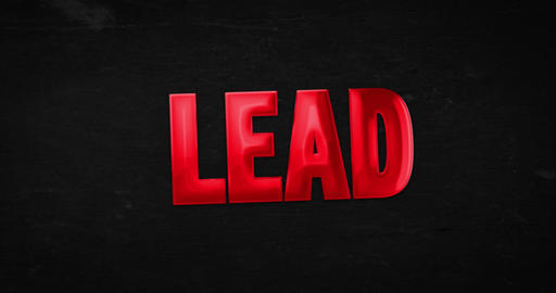 Lead. Logo. 4K animation Animation