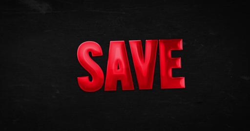 Save. Logo. 4K animation Animation