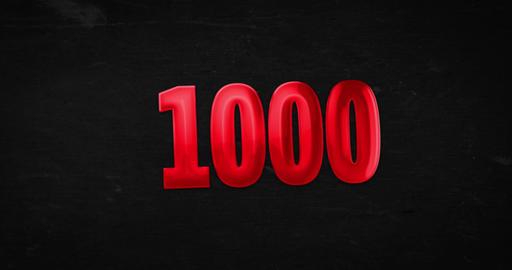 1000. Logo. 4K animation Animation