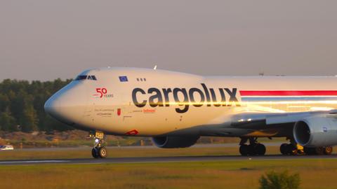 Cargolux airfreighter departure GIF