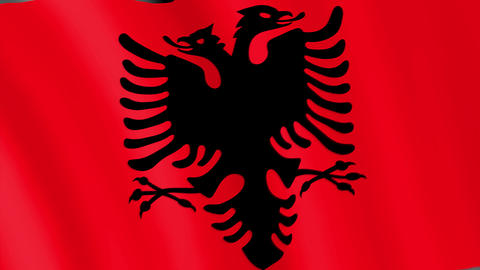 Albania. State flag of the country Animation
