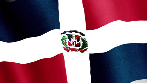 Dominican Republic. State flag of the country Animation