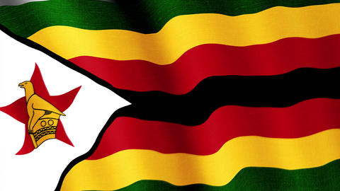 Zimbabwe. State flag of the country Animation
