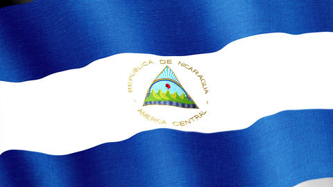 Nicaragua. State flag of the country Animation