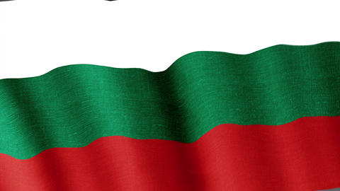 Bulgaria. State flag of the country Animation