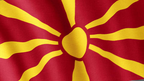 Macedonia. State flag of the country Videos animados