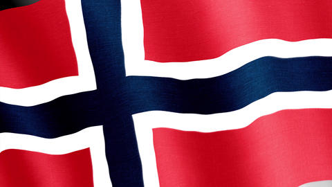 Norway. State flag of the country Videos animados