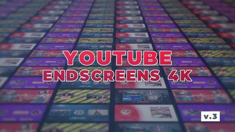 YouTube EndScreens 4K v 3 Premiere Pro Template