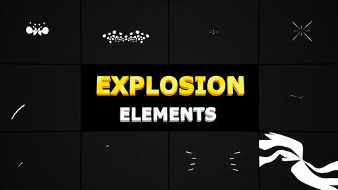 Explosion Shapes Apple Motion Template