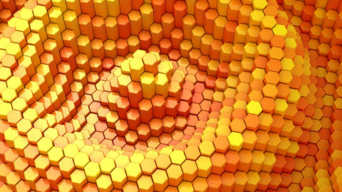 Hexagons Form A Wave GIF
