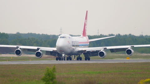 Cargolux Boeing 747 airfreighter taxiing GIF
