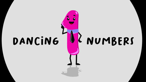 Dancing Numbers After Effects Template