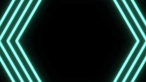 Hypnotic blue hexagon on black background Animation