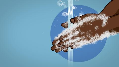 Wash Your Hands Coronavirus Animation Dark Skin Animation