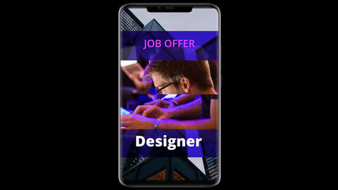 Vertical Job Offer style 01 After Effects Template