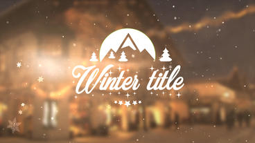 Winter Title - Apple Motion and Final Cut Pro X Template Apple Motionテンプレート