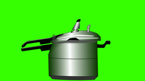 Exploding Pressure Cooker: Green screen + matte Animation