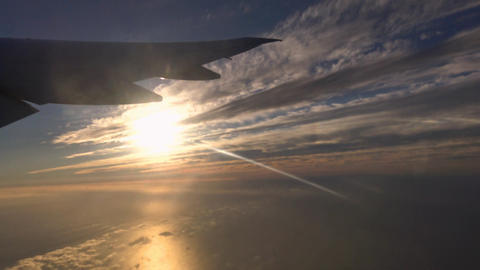 The takeoff of the aircraft above the coast of Los Angeles Footage