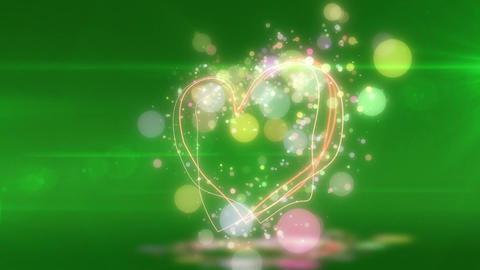 SHA Heart Love BG Green CG動画