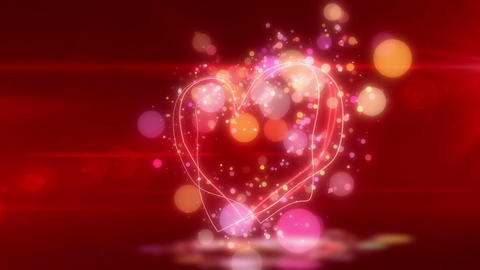 SHA Heart Love BG Red CG動画