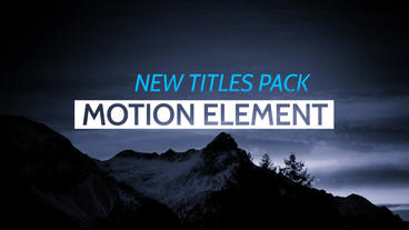 Titles Lower Third After Effects Project
