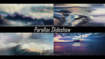 Glitch Epic Parallax Slideshow After Effects Template