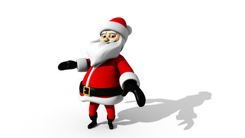 Santa Claus Dancing Christmas Stock Video Footage