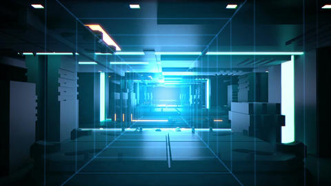 Digital tunnel Technology background loop Animation