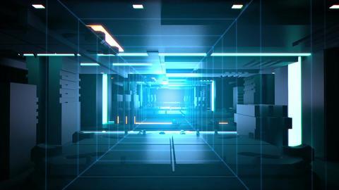 Digital tunnel Technology background loop Animation
