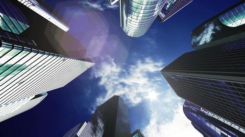 Skyscraper 2 Cb2 sun 4k Animation