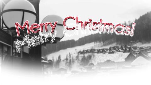 Merry Christmas with Carpathian Mountains BG Animation