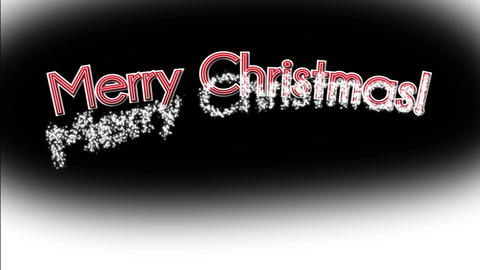 Merry Christmas with Black Background Animation