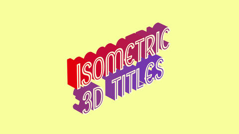 Isometric 3D Pop In Titles Motion Graphics Template