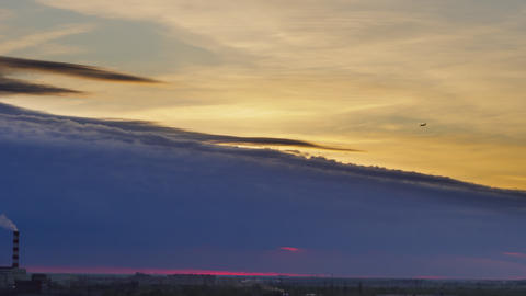 Scenic timelapse of evening sky Live Action