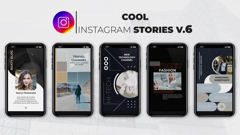 Cool Instagram Stories v 6 After Effects Template