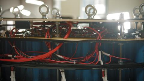 Production plant - the production of batteries Live Action