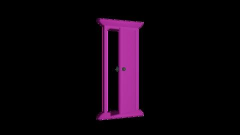 Door front alpha L Animation