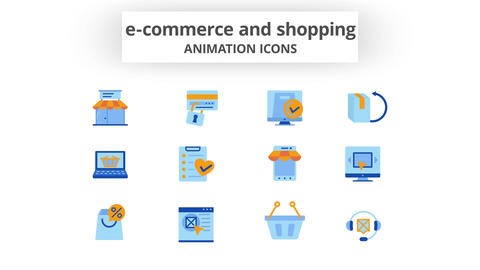 E-Commerce & Shopping - Animation Icons After Effects Template